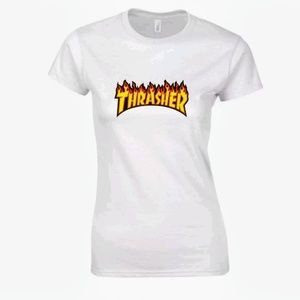 Ladies Thrasher flame tee-shirt